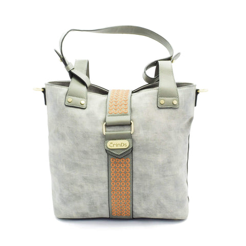 Crinds designer Polka Ring Grey Satchel Hobo Men Women Ladies Girls Handbags