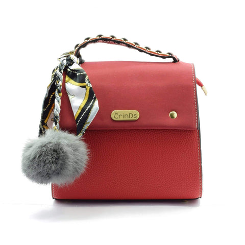 Crinds designer Pom-Pom Braid Red Sling Men Women Ladies Girls Handbags