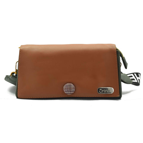 Crinds designer PR Small Stylish Brown Sling Bag Men Women Ladies Girls sling