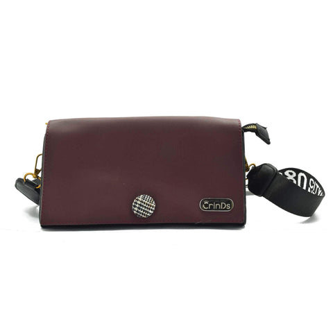 Crinds designer PR Small Stylish Purple Sling Bag Men Women Ladies Girls sling