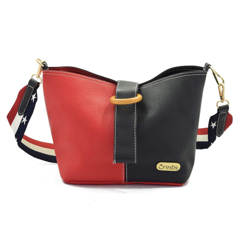 Crinds designer Red & Black 2in1 Bucket Sling Bag Men Women Ladies Girls Handbags