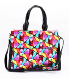 Crinds designer Satin Print Shine Fashionable Handbag Men Women Ladies Girls Handbags