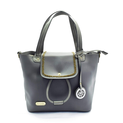 Crinds designer Sequence Grey Satchel Tote Men Women Ladies Girls Handbags