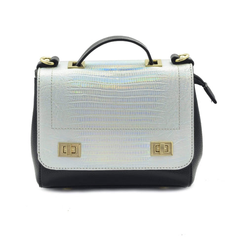 Crinds designer Shiny textured Small leather handbag Men Women Ladies Girls Handbags