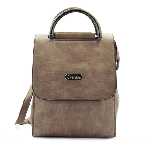 Crinds designer Smart Casual Brown Backpack Men Women Ladies Girls Backpack