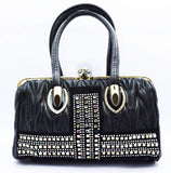 Crinds designer Soft texured embellished bag Men Women Ladies Girls Handbags