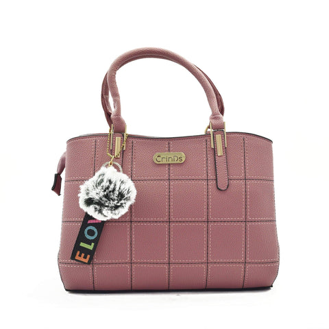 Crinds designer Square Design Medium Pink Handbag Men Women Ladies Girls Handbags