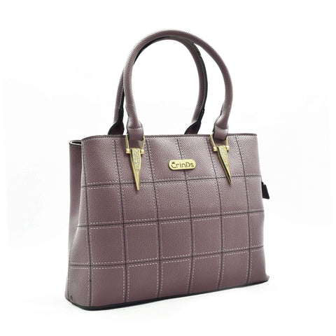 Crinds designer Square Design Medium Purple Handbag Men Women Ladies Girls Handbags