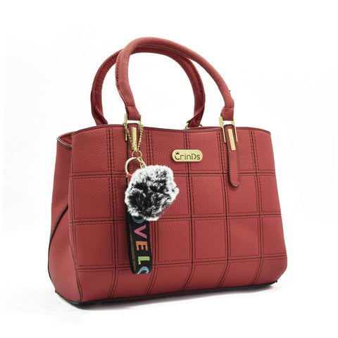 Crinds designer Square Design Medium Red Handbag Men Women Ladies Girls Handbags