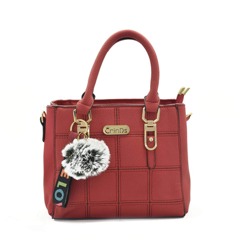 Crinds designer Square Design Small Red Handbag Men Women Ladies Girls Handbags