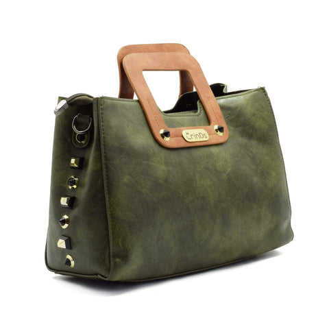 Crinds designer Square Handle Green Baguette Men Women Ladies Girls Handbags
