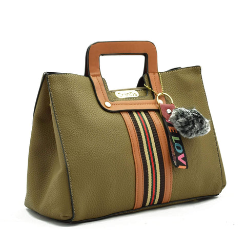 Crinds designer Square Handle Green Handbag Men Women Ladies Girls Handbags