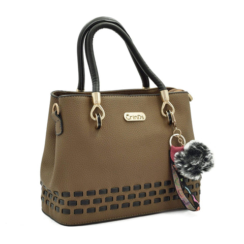Crinds designer Stitch Lines Base Brown Handbag Men Women Ladies Girls Handbags