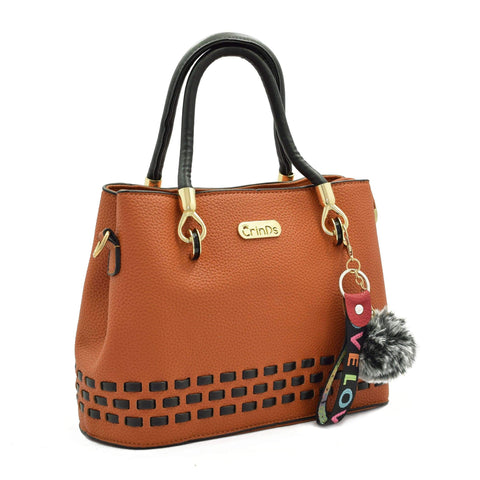 Crinds designer Stitch Lines Base Orange Handbag Men Women Ladies Girls Handbags