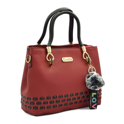 Crinds designer Stitch Lines Base Red Handbag Men Women Ladies Girls Handbags
