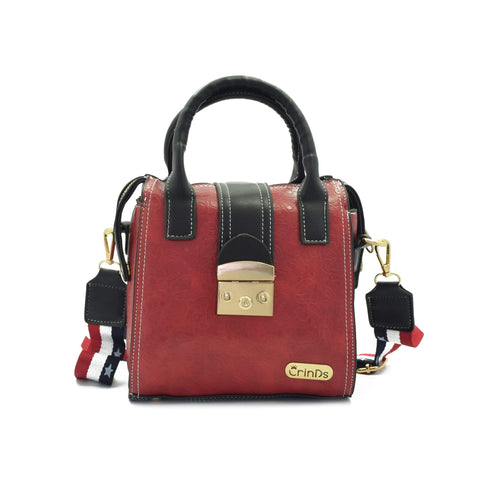 Crinds designer Strap Lock Maroon Handbag Men Women Ladies Girls sling