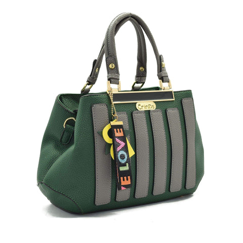 Crinds designer Strap Star Green Handbag Men Women Ladies Girls Handbags