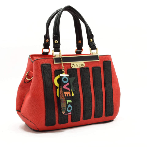 Crinds designer Strap Star Red Handbag Men Women Ladies Girls Handbags
