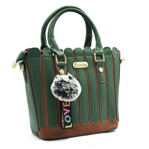 Crinds designer Strips Fence Green handbag Men Women Ladies Girls Handbags