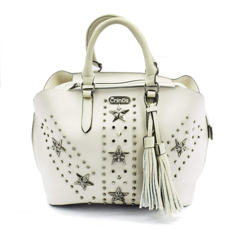 Crinds designer Studded Star Grey 2in1 Tote Men Women Ladies Girls Handbags