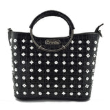 Crinds designer studed design round handle bag Men Women Ladies Girls Handbags
