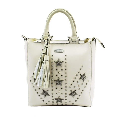Crinds designer Studed Star 2in1 Grey Tote Men Women Ladies Girls Handbags