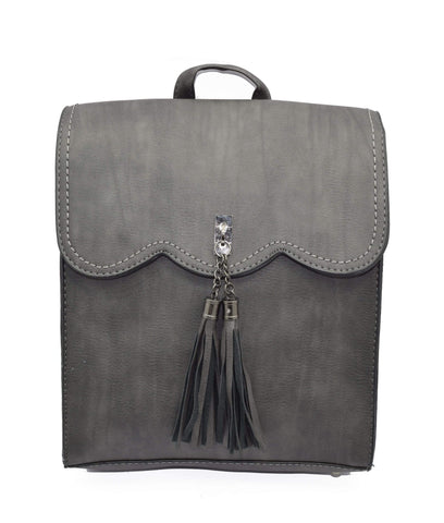 Crinds designer Tassel formal Grey backpack Men Women Ladies Girls Handbags