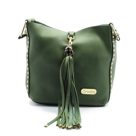 Crinds designer Tassel Square 2in1 Satchel Green Men Women Ladies Girls Handbags