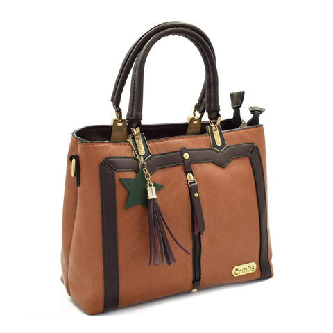 Crinds designer Trendy Formal Brown Handbag Men Women Ladies Girls Handbags