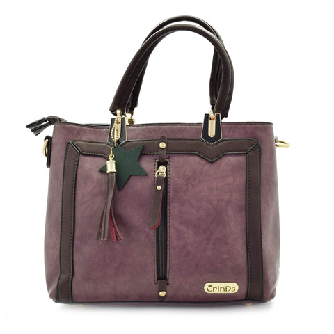 Crinds designer Trendy Formal Purple Handbag Men Women Ladies Girls Handbags