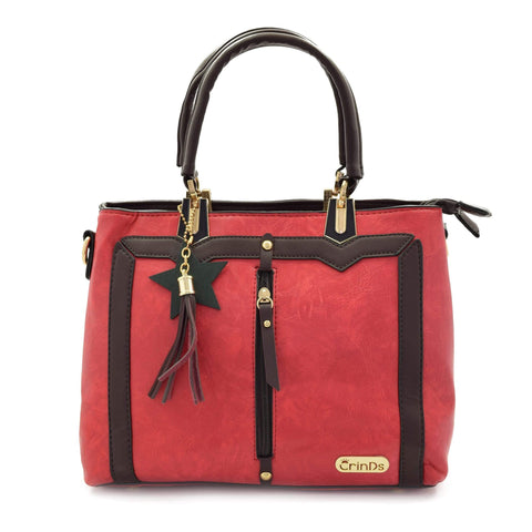 Crinds designer Trendy Formal Red Handbag Men Women Ladies Girls Handbags