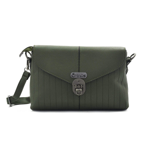 Crinds designer Twist Lock Classy Green Men Women Ladies Girls Clutch