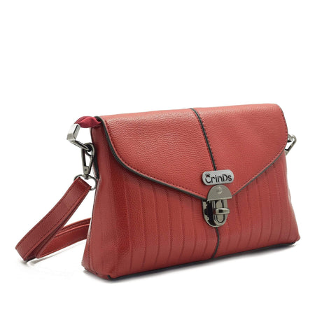Crinds designer Twist Lock Classy Red Men Women Ladies Girls Clutch