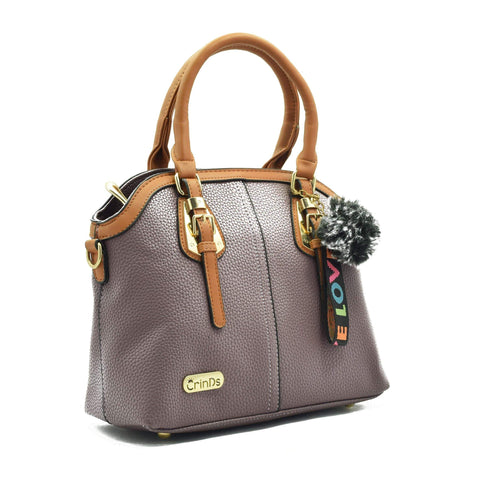 Crinds designer Two Buckle Classy Purple Medium Handbag Men Women Ladies Girls Handbags