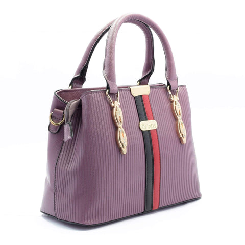 Crinds designer Two Stripes Structured Pink Handbag Men Women Ladies Girls Handbags