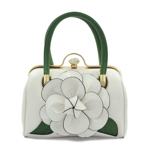 Crinds designer White Crinds Bloomed Flower Duffel Bag Men Women Ladies Girls Handbags