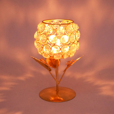 Crinds Floral Metal Candle Lamp