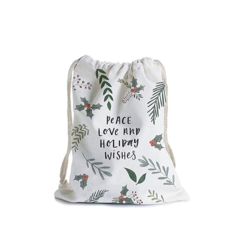 Peace Love Wishes Canvas Bag