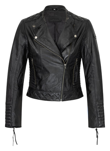 Lederjacke Kelly in Schwarz