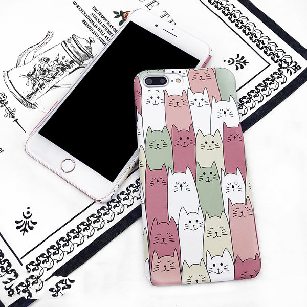 Multiple Cats Print Phone Case For iPhone
