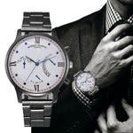 Fashion Men Crystal Stainless Steel Analog Quartz Wrist Watch Bracelet - FREE SHIPPING