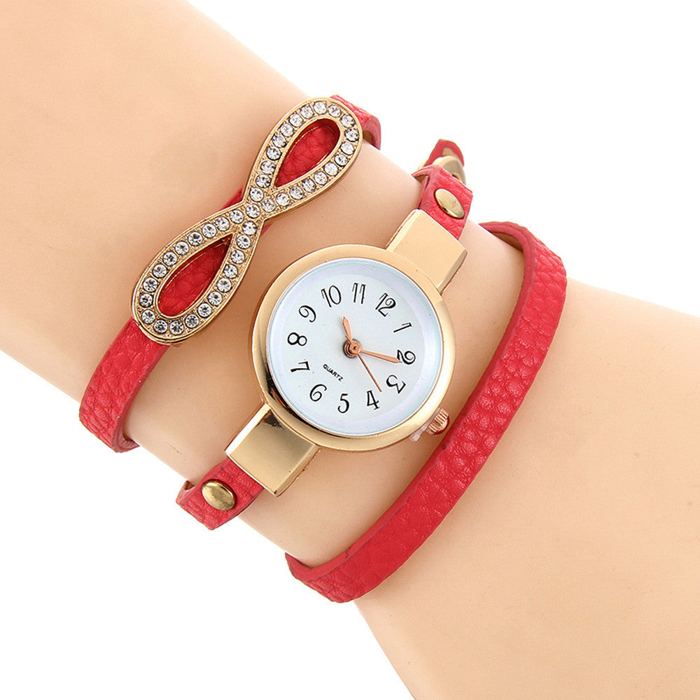 Fashion Women Leather Quartz Analog Wrist Watch New - FREE SHIPPING