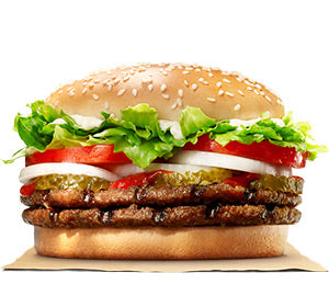 Double Whopper Burger Meal
