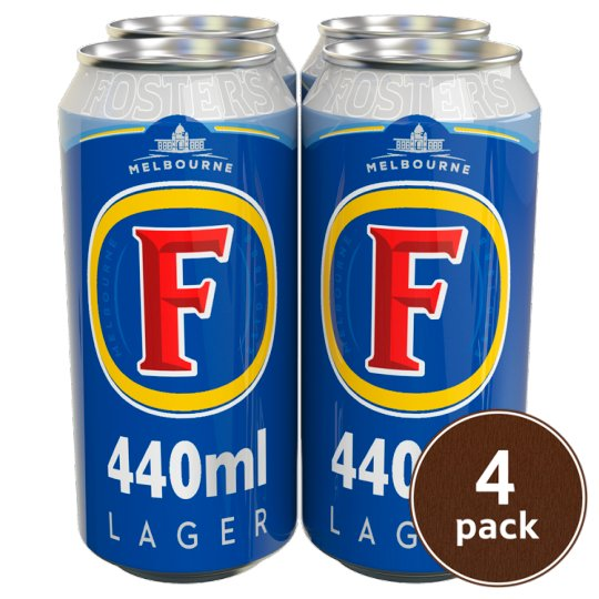 4 Cans of Fosters (440ml) - Deliver Me Home Delivery