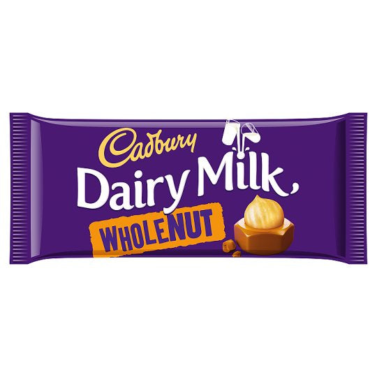 Cadbury Dairy Milk Whole Nut Chocolate Bar 200g - Deliver Me Home Delivery