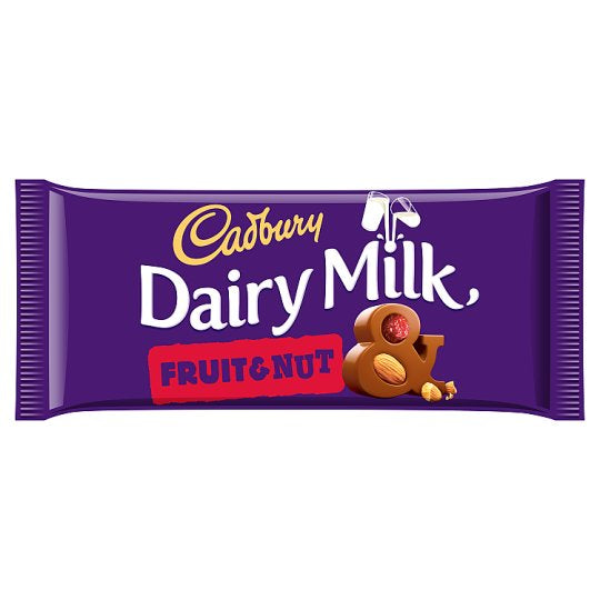 Cadbury Dairy Milk Fruit and Nut Chocolate Bar 200g - Deliver Me Home Delivery