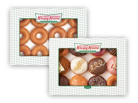 SHARER & ORIGINAL GLAZED DOUBLE DOZEN