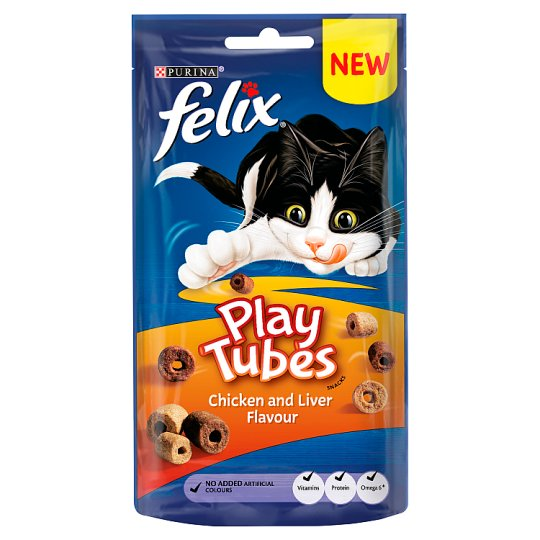 Felix Play Tubes Cat Treats Chicken And Liver 50G
