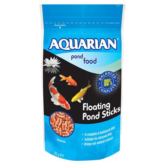 Aquarian Pond Fish Food 210G