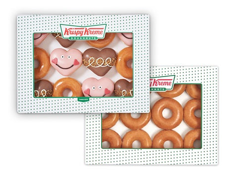 HUGS AND HEARTS & ORIGINAL GLAZED DOUBLE DOZEN